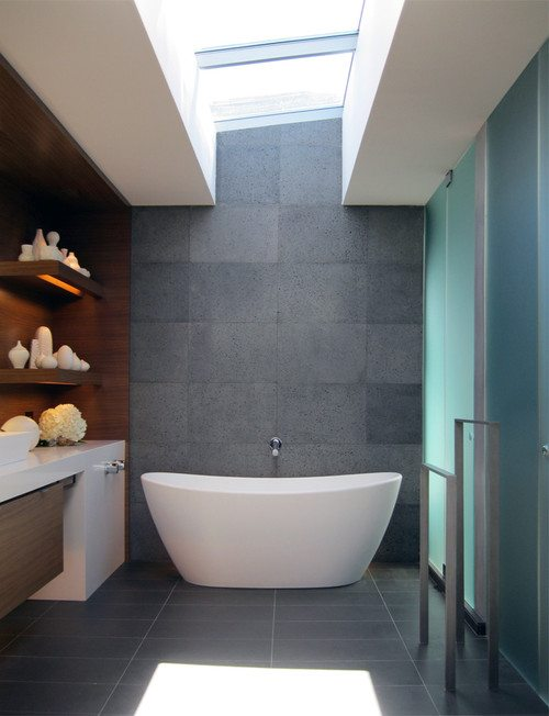 Bathroom with a freestanding tub