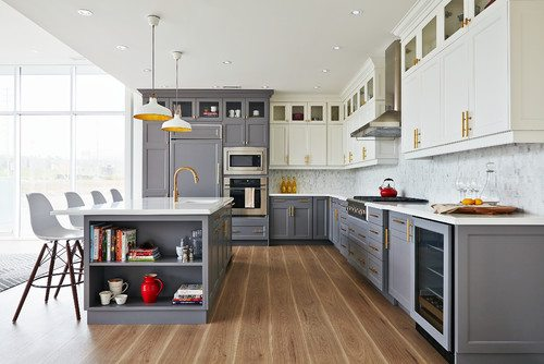 Kitchen with wood floor