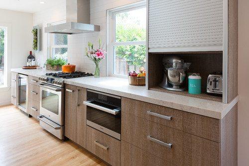 """Kitchen with """"appliance garage"""""""